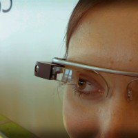 Google Glass Detail on woman face