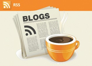 a cup of coffee with newspaper on orange colors