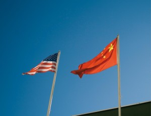 american and chines flags