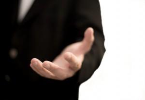 Business man hand