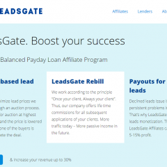 LeadsGate: The Most Balanced Payday Loan Affiliate Program